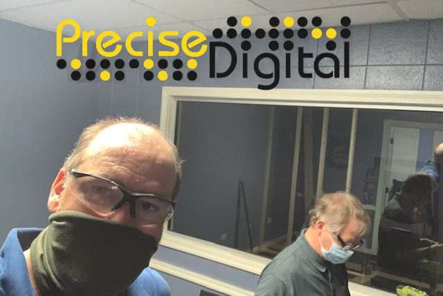 Precise Digital is Installing Systems with Social Distancing in mind